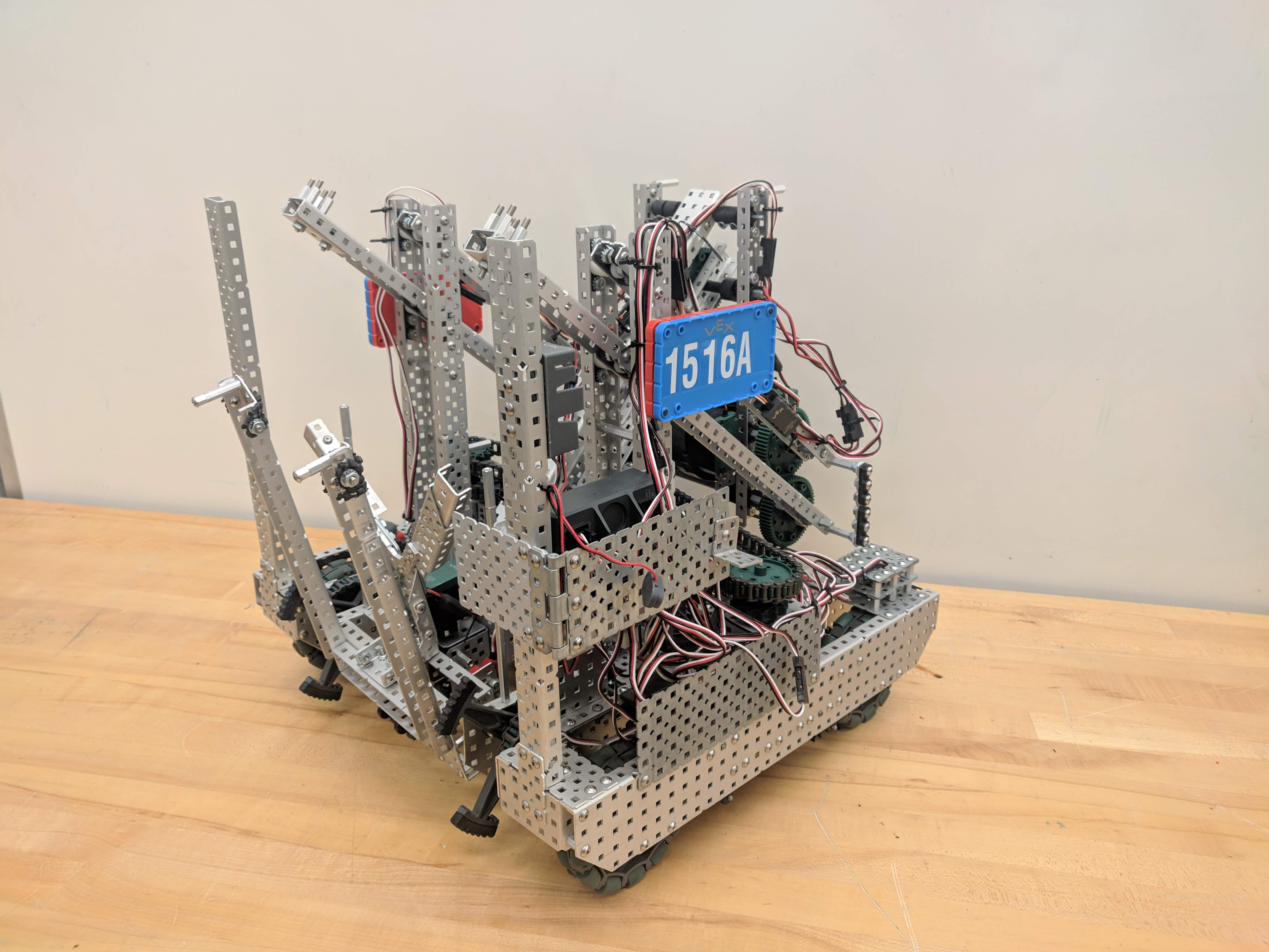 The 1516A Robot from the VEX Turning Point Season.